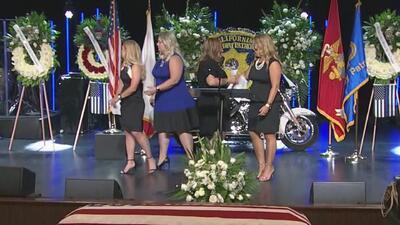 Emotivo funeral del oficial de la Patrulla de Caminos que perdió la vida en accidente