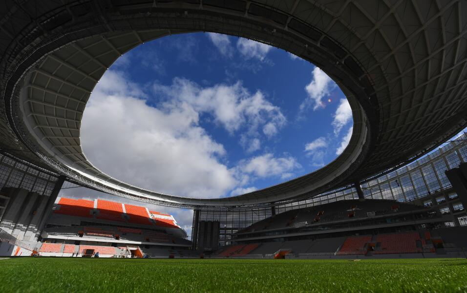 El Estadio Central (Ekaterimburgo) es el que más críticas ha levantado p...