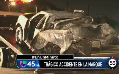 En Un Minuto Houston: Investigan un accidente vial en La Marque que cobr...