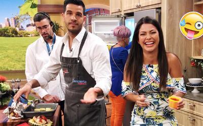 Detrás de cámaras: Ana Patricia no pudo contener la risa al tener 3 bloo...