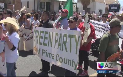 Tucson dijo Presente! en la marcha de este 1 de mayo en la que rechazaro...