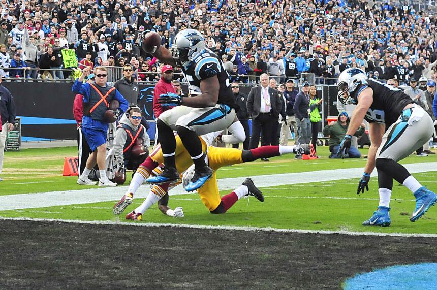 En el triunfo de los Carolina Panthers sobre los Washington Redskins exi...