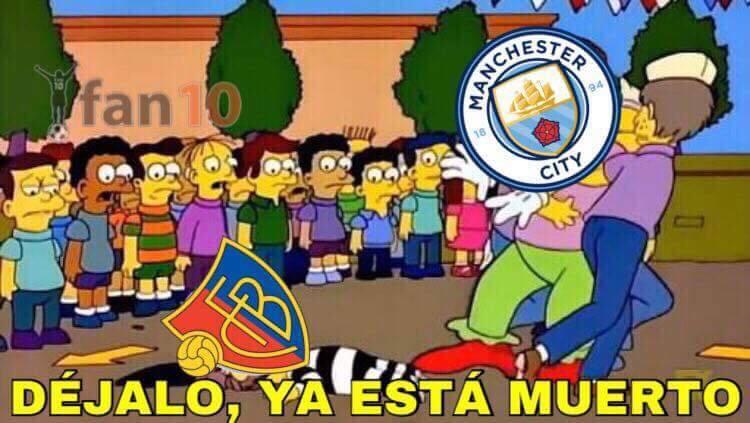 Manchester City golea al Basel y pone pie y medio en cuartos de final 27...