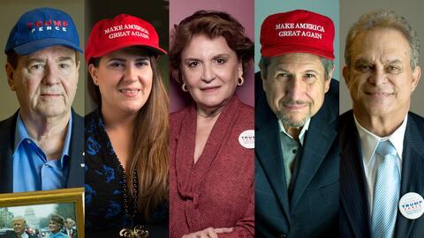 Cubanoestadounidenses de Miami que votaron por Trump en la elecci&oacute...