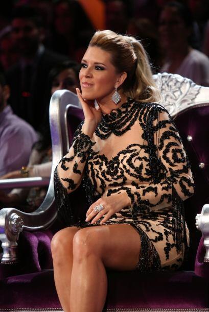 Alicia Machado en todo el show estuvo muy atenta, pero no la vimos nada...