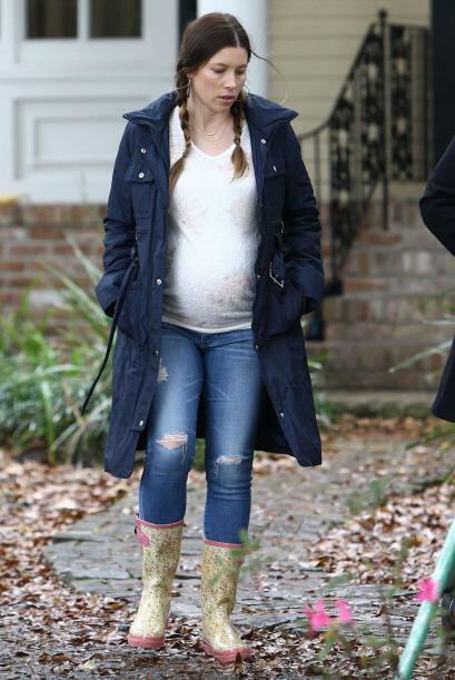 OMG! Parece que el bebé de Jessica Biel está listo para nacer.