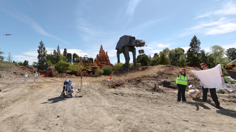 Las obras del parque temático de Star Wars iniciaron este jueves.