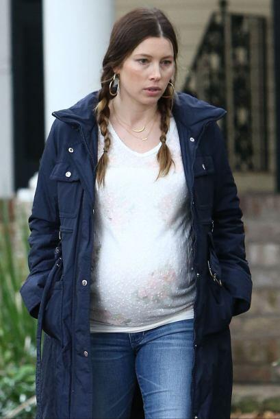 Estas son las fotos de los mejores momentos del embarazo de Jessica.