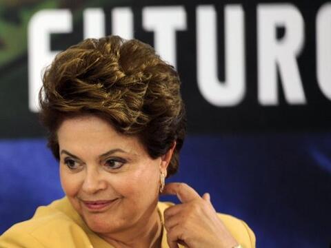 La presidenta de Brasil, Dilma Rousseff, lleva cien días en el po...