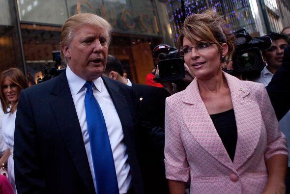 Sarah Palin visitó al magnate inmobiliario en su departamento en New York.