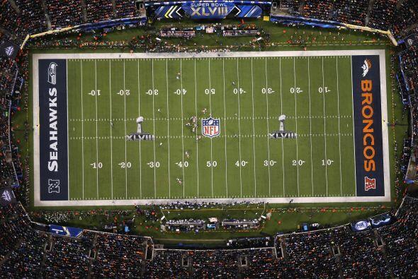 El imponente Metlife Stadium no decepcionó. En la imagen, una toma aérea...