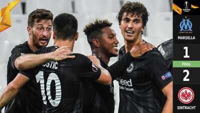 ¡Sin Fabián ni Salcedo! El Eintracht remonta al Olympique en Marsella