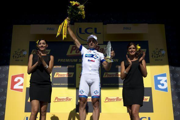 Pierrick Fedrigo, del equipo La Francaise, firmó la cuarta victoria fran...