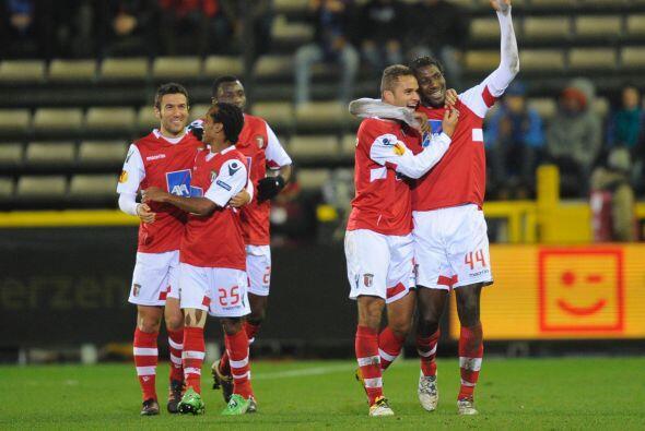A pesar de que el Brujas se fue adelante en el marcador, el Braga logró...
