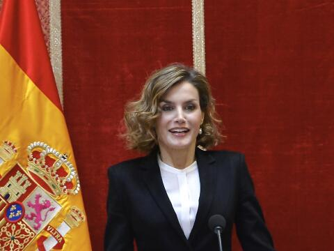 Doña Letizia brilló en Madrid durante la entrega de los pr...