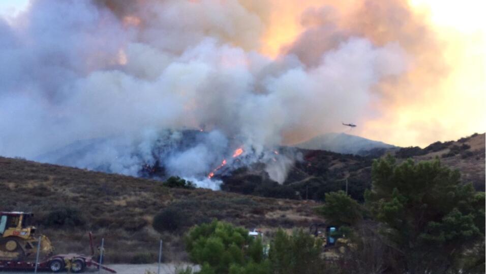 En dos horas el fuego se dispersó por 250 hectáreas.