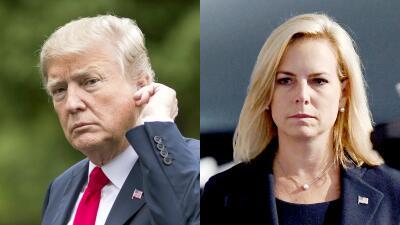 """""""EEUU no será un campo de migrantes"""" y """"no nos disculparemos"""": Trump y Nielsen defienden la 'tolerancia cero' en la frontera"""