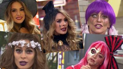 Galilea Montijo Andrea Legarreta disfraz halloween