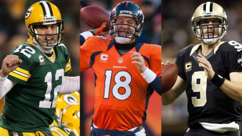 Aaron Rodgers, Peyton Manning y Drew Brees continuaron subiendo escalone...