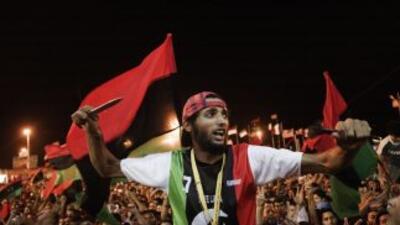 Los rebeldes libios batallan por Tripoli, en lo que parece ser la caída...