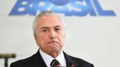 El presidente Michel Temer será investigado por negociar supuestos sobornos con Odebrecht