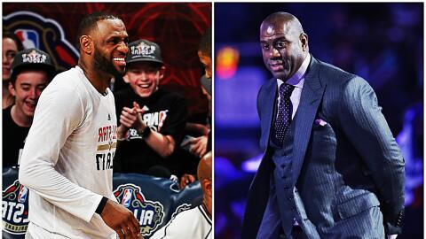 LeBron muestra su respeto por Magic Johnson.