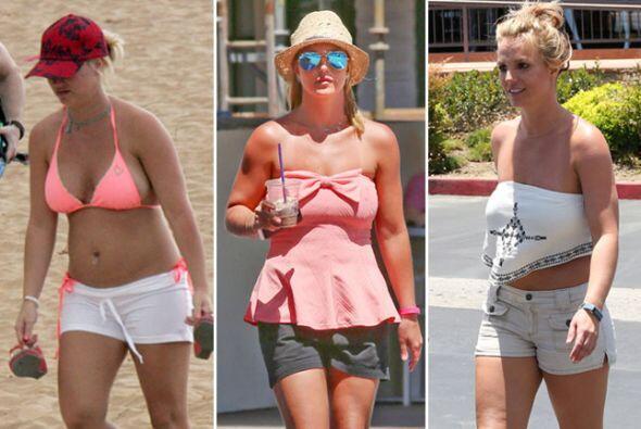 Aunque no tiene el mejor cuerpo del mundo, Britney se destapa y no le im...