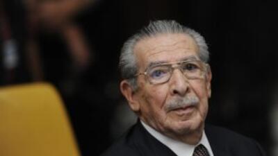 Ríos Montt había ingresado al hospital luego de que fuera condenado a 80...
