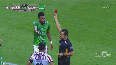 ¡Roja para Alebrijes! Okunorobo fue expulsado por agredir a Ponce y lo volvió a hacer