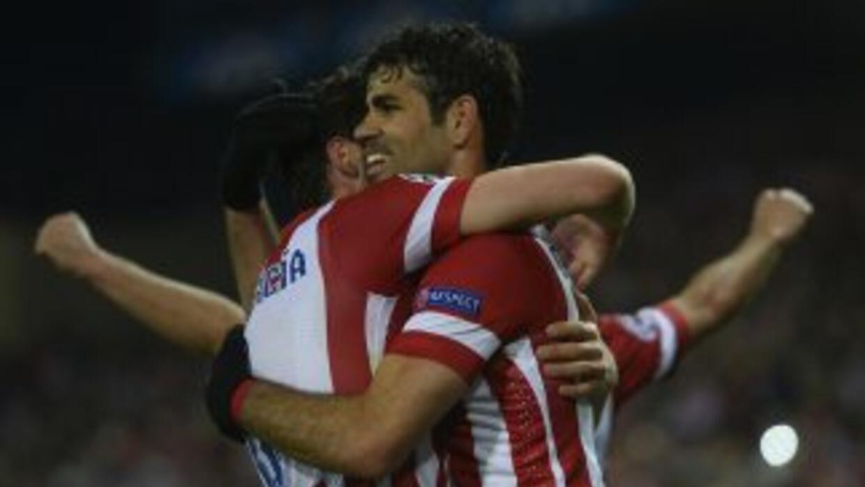 Diego Costa inició y cerró la goleada 'colchonera' sobre el Milan.