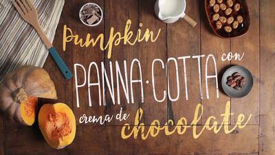 Pumpkin panna-cotta con crema de chocolate