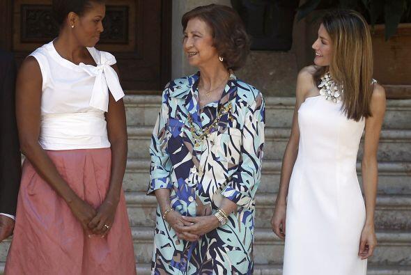 Michelle Obama llegó al Palacio poco después del mediodía del domingo, d...
