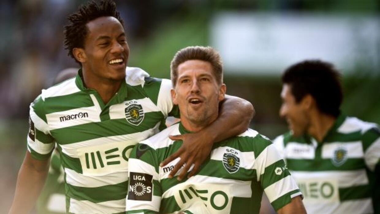 Adrien Silva adelantó al Sporting apenas arrancaba el partido.