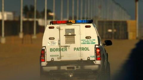 Un vehículo de la Patrulla Fronteriza.