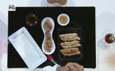 Butifarras de cerdo La Aguadillana envueltas en hojaldre con glaseado de...