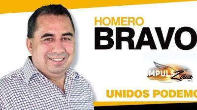 Una imagen de la campaña política de Homero Bravo Espino,...