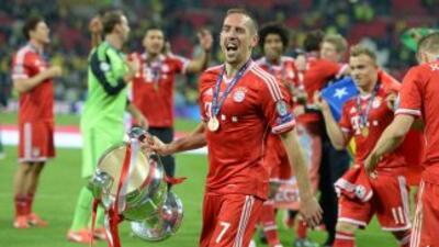 """""""Tenemos que lograrlo para el técnico"""", apuntó Ribéry, de cara a la fina..."""