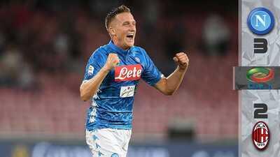 Vaya remontada: Napoli perdía por dos y le dio la vuelta al Milan