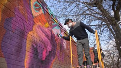 En fotos: El mural que se está pintando en Chicago para promover el voto de los mexicanos en las elecciones del 2018