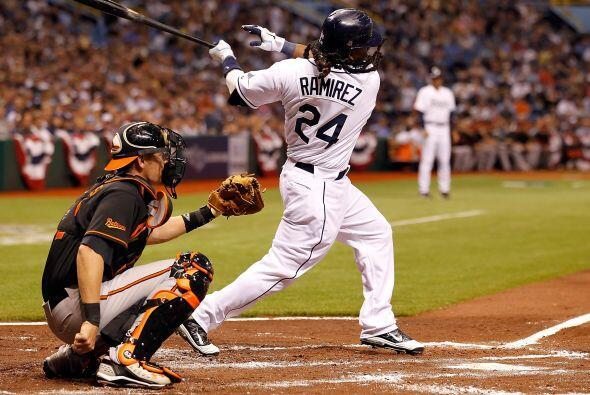 El mejor de los Rays de Tampa Bay fue Manny Ramírez; sin embargo, su des...