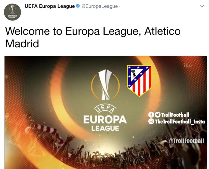 El Atlético se va a Europa League y los memes no se lo perdonaron dqueqv...