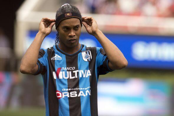 Ronaldinho llegó a México el pasado 12 de septiembre para...