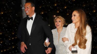 Jennifer López, Guadalupe Rodríguez y Alex Rodríguez