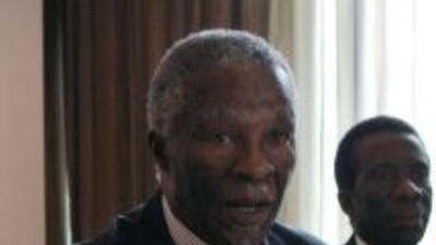 Thabo Mbeki, expresidente de Sudáfrica.