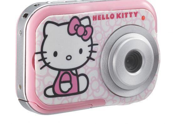 Esta divertida Cámara Sakar Hello Kitty de 2.1 MP, cuenta con una pantal...
