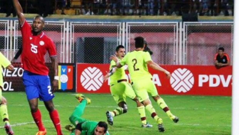Venezuela derrota a Costa Rica por la mínima.