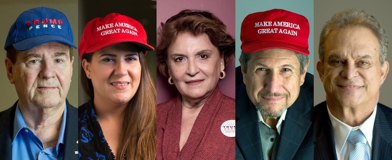 Cubanoestadounidenses de Miami que votaron por Trump en la elección pres...