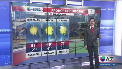 Cielos despejados, el pronóstico para este miércoles en Phoenix