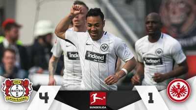 Marco Fabián hizo gol con el Eintracht, pero su equipo fue goleado por el Bayer Leverkusen
