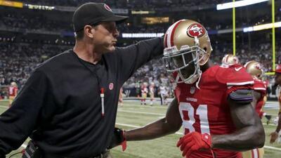 Anquan Boldin defendió la química del vestidor de 49ers con el coach Jim...